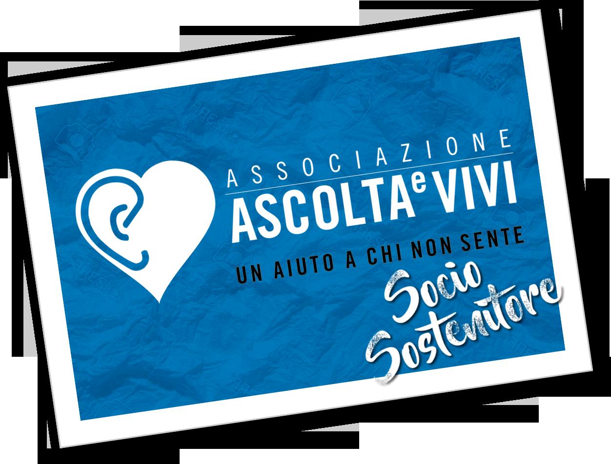 Associazione Ascolta e Vivi tessera socio sostenitore